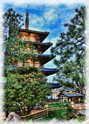 Horyu-ji Prints - Japanese Pagoda Print by Lee Dos Santos