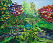 Japanese Tea Garden Paintings - Japanese Tea Garden by Mark Smith