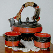Featured Ceramics - Japanese Tea Set by Beth Gramith