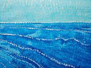 Surfing Art Painting Originals - Japanese Waves original painting by Sol Luckman