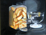 Biscotti Prints - Jar of Biscotti with Crystal  Print by Darla Freeman