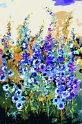 Ginette Fine Art LLC Ginette Callaway - Jardin Bleu Delphiniums