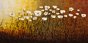 White Flowers Paintings - Jardin Botanique by Carmen Guedez