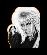 Celebrity Drawings - Jareth - The Goblin King 3 by Charles Champin