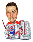 Canadiens Paintings - Jaroslav Halak by Art