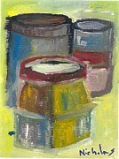 Jars Paintings - Jars and Can by Nick Banks
