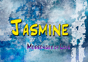 Distressed Paintings - Jasmine - Messenger of Love by Christopher Gaston