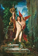 Gilt Framed Prints - Jason and Eros Framed Print by Gustave Moreau