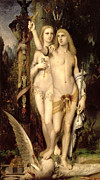 Figures Painting Posters - Jason and Medea Poster by Gustave Moreau