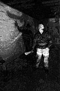 Jason Voorhees Prints - Jason in his barn Print by John Gaffen