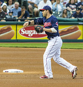 Second Baseman Posters - Jason Kipnis Poster by Tom Climes