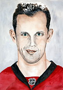 Canada Sports Painting Posters - Jason Spezza Poster by Betty-Anne McDonald