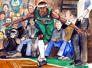Jet Drawings Posters - Jason Terry Poster by Dave Olsen