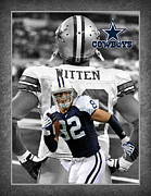 Dallas Cowboys Prints - Jason Witten Cowboys Print by Joe Hamilton