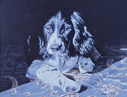 Springer Spaniel Paintings - Jasper by Anda Kett