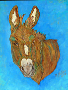 Donkey Pyrography Prints - Jasper Print by Mike Holder