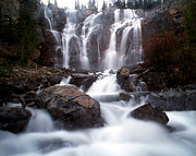 Alberta Water Falls Prints - Jasper - Tangle Falls Print by Terry Elniski
