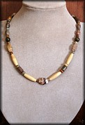 Gemstone Jewelry Prints - Jasper Tribal Print by Jan  Brieger-Scranton