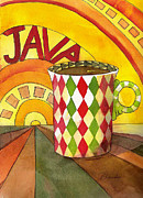 Java Prints - Java Cup Art  Print by Blenda Studio