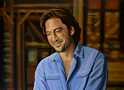 James Bond Paintings - Javier Bardem by Paul Meijering