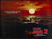 Movie Digital Art Metal Prints - Jaws 2 Poster Metal Print by Sanely Great