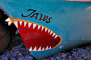 Letter Framed Prints - Jaws boat bow Framed Print by Garry Gay