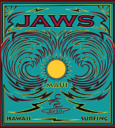 Jaws Posters - Jaws Hawaii Surfing Poster by Larry Butterworth