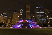 Outdoor Theater Prints - Jay Pritzker Pavilion Chicago Print by Adam Romanowicz