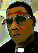 Orange Digital Art Originals - Jay Z by Byron Fli Walker