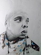 Hip Drawings - Jay-z by Joshua Robinson