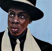 Black Tie Painting Posters - Jay-Z Poster by Shirl Theis