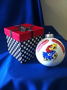 Decorations Art - Jayhawk Christmas by MEA Fine Art