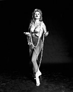 Mansfield Prints - Jayne Mansfield in chains Print by Silver Screen