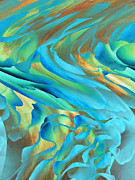 Swirling Color Abstract Art Framed Prints - Jazz Framed Print by Ann Powell