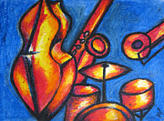 Abstract Drum Paintings - Jazz by Anna Yanova