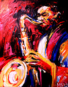 Original Paining Framed Prints - Jazz Art Framed Print by Marina Joy