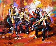 Jazz Painting Originals - Jazz band  by Yana Ranevska