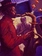 Jazz Duet Print by Ellen Dreibelbis