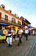 French Quarter Digital Art Posters - Jazz Funeral II Poster by Steve Harrington
