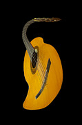 Spanish Guitar Posters - Jazz Guitar Poster by Debra and Dave Vanderlaan