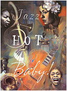 Bass Pastels Acrylic Prints - Jazz Hot Baby Acrylic Print by Brooks Garten Hauschild