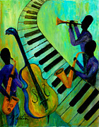 Beale Street Paintings - Jazz in a Cool Mood by Larry Martin