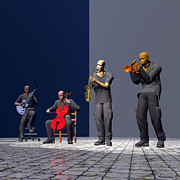 Trumpet Digital Art - Jazz Inc by Walter Neal