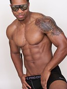 Fotoartbyjake Art - JAZZ   Male Muscle Art Joe Cool by Jake Hartz