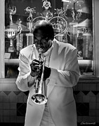 Saxophone Photos - Jazz Man by Larry Butterworth