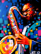 Original Paining Framed Prints - Jazz Man Framed Print by Marina Joy