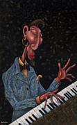 Piano Player Prints - Jazz man Print by Ned Shuchter