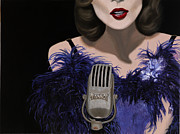Jazz Singer Prints - Jazz Print by Marcella Lassen