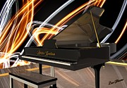 Bass Digital Art - Jazz Piano Bar by Louis Ferreira