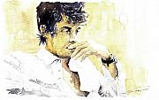 John Mayer Framed Prints - Jazz Rock John Mayer 04  Framed Print by Yuriy  Shevchuk